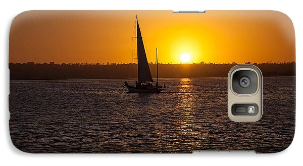 Galaxy Case featuring the photograph Sailing At Sunset by Margaret Buchanan