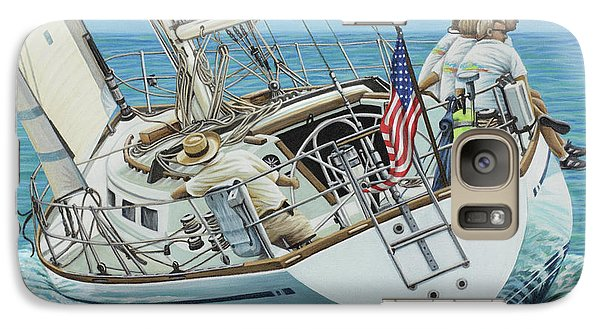 Galaxy Case featuring the painting Sailing Away by Jane Girardot