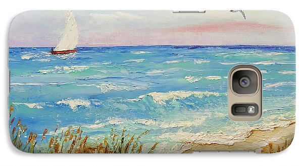 Galaxy Case featuring the painting Sailing By The Beach by Jimmie Bartlett