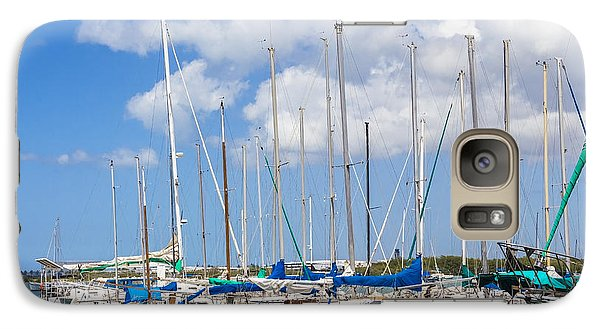 Galaxy Case featuring the photograph Sailing Club Marina 1 by Leigh Anne Meeks