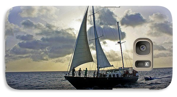 Galaxy Case featuring the photograph Sailing In Aruba by Suzanne Stout