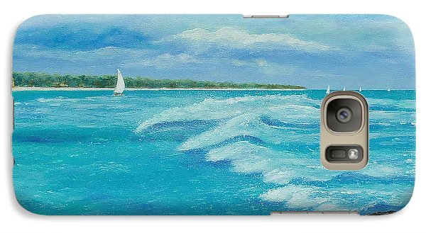 Galaxy Case featuring the painting Sailing In The Bay by Susan DeLain