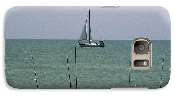Galaxy Case featuring the photograph Sailing In The Gulf by D Hackett