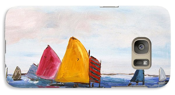 Galaxy Case featuring the painting Sailing Nantucket Sound by Michael Helfen