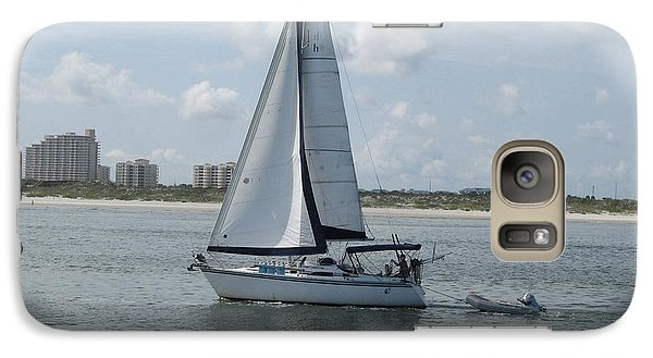 Galaxy Case featuring the digital art Sailing Ponce Inlet Florida by Brian Johnson