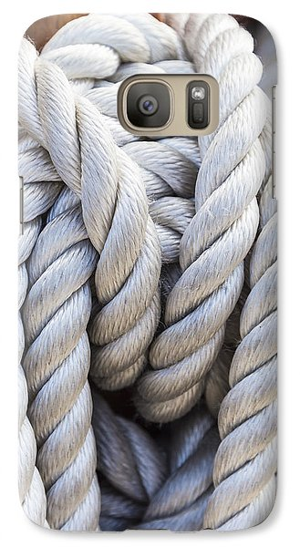 Galaxy Case featuring the photograph Sailing Rope 1 by Leigh Anne Meeks