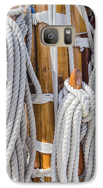 Galaxy Case featuring the photograph Sailing Rope 4 by Leigh Anne Meeks