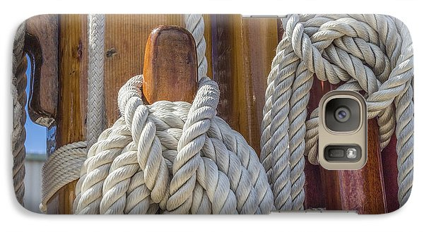 Galaxy Case featuring the photograph Sailing Rope 5 by Leigh Anne Meeks