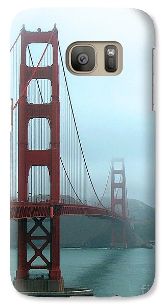 Galaxy Case featuring the photograph Sailing Under The Golden Gate Bridge by Connie Fox