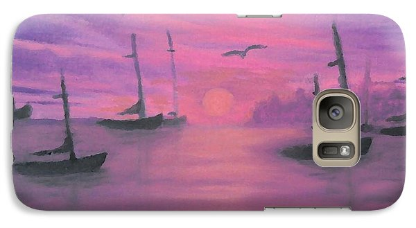 Galaxy Case featuring the painting Sails At Dusk by Holly Martinson