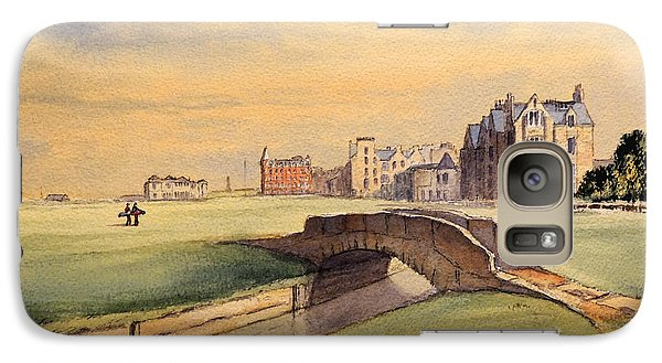 Saint Andrews Golf Course Scotland - 18th Hole Galaxy S7 Case by Bill Holkham