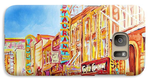 Galaxy Case featuring the painting Saint Catherine Street Montreal by Carole Spandau