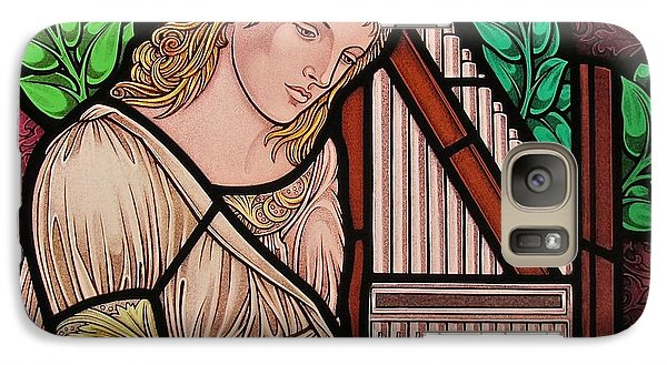 Galaxy Case featuring the glass art Saint Cecilia by Gilroy Stained Glass