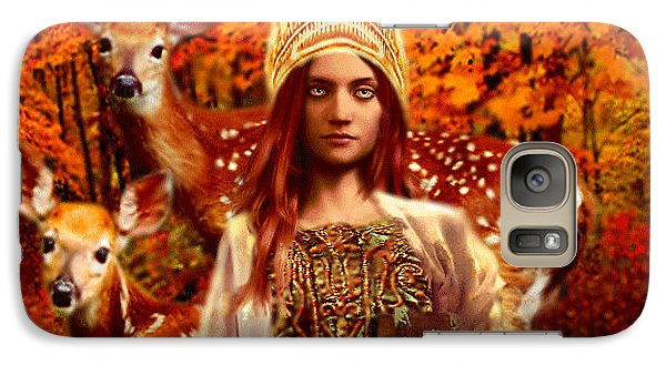 Galaxy Case featuring the painting Saint Dymphna by Suzanne Silvir