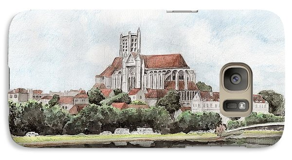 Galaxy S7 Case featuring the painting Saint-etienne A Auxerre by Marc Philippe Joly