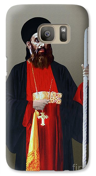 Galaxy Case featuring the digital art Saint Gregorios Of Parumala by A Samuel