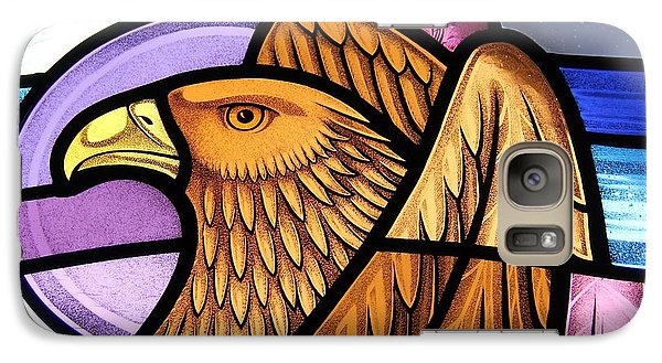 Galaxy Case featuring the glass art Saint John Eagle  by Gilroy Stained Glass