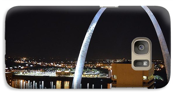 Galaxy Case featuring the photograph Saint Louis Skyline And Jefferson Expansion Arch by Jeff at JSJ Photography