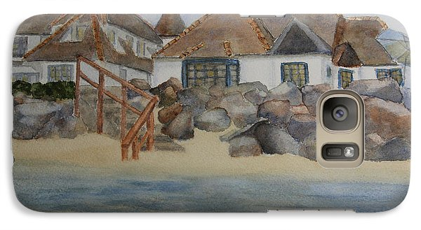 Galaxy Case featuring the painting Saint Malo Beach House by Jan Cipolla