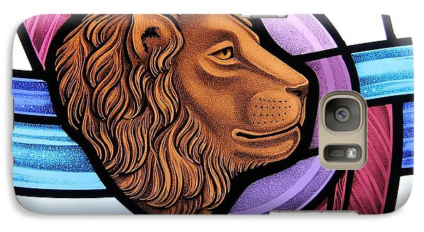 Galaxy Case featuring the glass art Saint Mark Lion by Gilroy Stained Glass
