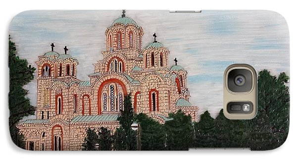 Galaxy Case featuring the painting Saint Marko Church  Belgrade  Serbia  by Jasna Gopic