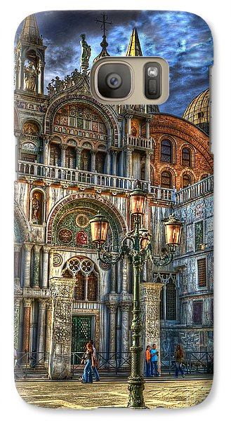 Galaxy Case featuring the photograph Saint Marks Square by Jerry Fornarotto