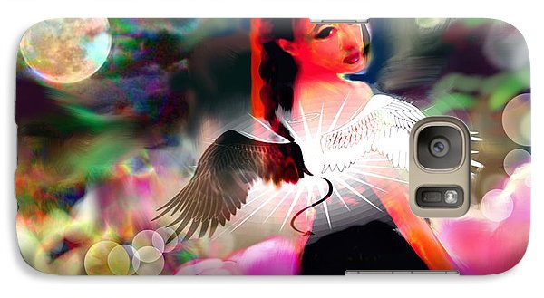 Galaxy Case featuring the digital art Saint Or Sinner #3 by Diana Riukas