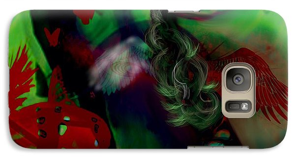 Galaxy Case featuring the digital art Saint Or Sinner by Diana Riukas