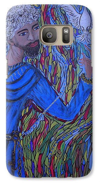Galaxy Case featuring the painting Saint Peter by Marie Schwarzer