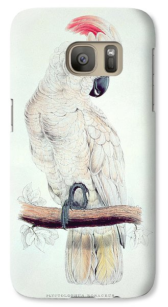 Salmon Crested Cockatoo Galaxy S7 Case by Edward Lear
