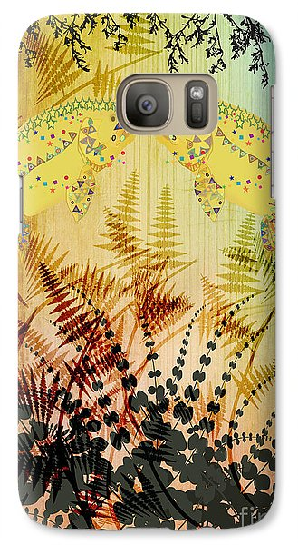 Galaxy Case featuring the digital art Salmon Love Gold by Kim Prowse
