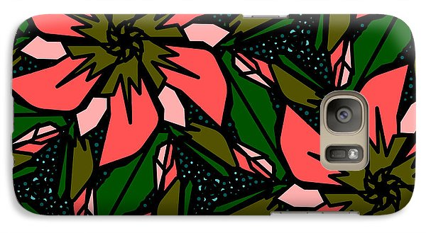 Galaxy Case featuring the digital art Salmon-pink by Elizabeth McTaggart