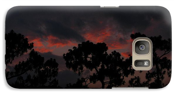 Galaxy Case featuring the photograph Salmon Sunset by Greg Patzer