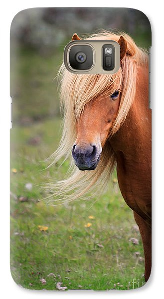 Galaxy Case featuring the photograph Salon Perfect Pony by Peta Thames