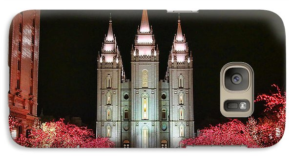 Galaxy Case featuring the photograph Salt Lake Temple - 1 by Ely Arsha
