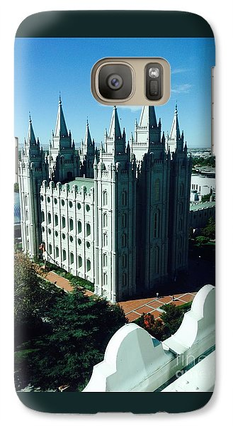 Galaxy Case featuring the photograph Salt Lake Temple The Church Of Jesus Christ Of Latter-day Saints The Mormons by Richard W Linford