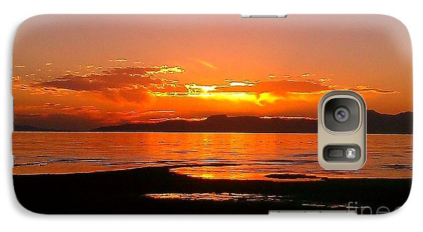 Galaxy Case featuring the photograph Salt Lakes A Fire by Chris Tarpening