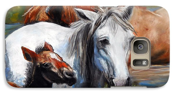 Galaxy Case featuring the pastel Salt River Foal by Karen Kennedy Chatham