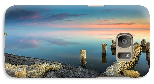 Galaxy Case featuring the photograph Salton Sea Reflections by Robert  Aycock