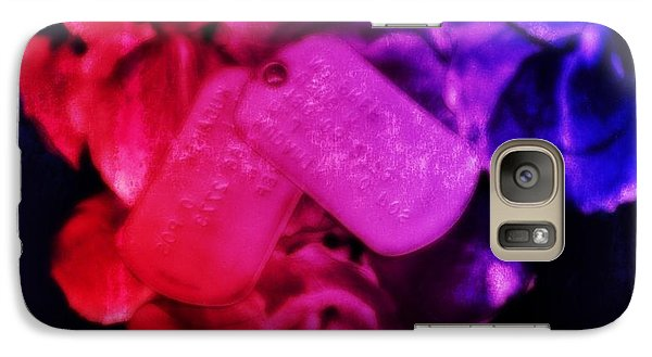 Galaxy Case featuring the photograph Salute The Heart by Amanda Eberly-Kudamik