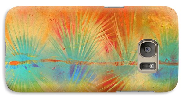 Galaxy Case featuring the painting Salute To The Sun by Gertrude Palmer
