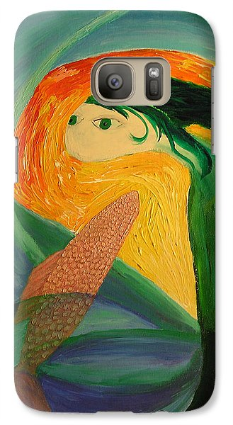Galaxy Case featuring the painting Sam And Mannie by Lola Connelly