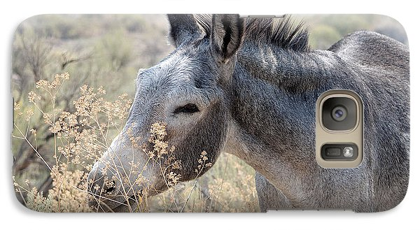 Galaxy Case featuring the photograph Sam The Burro by Lula Adams