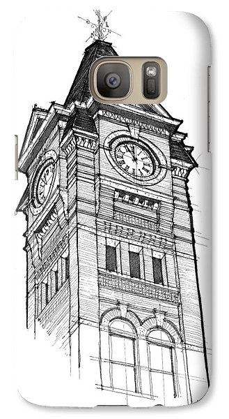 Galaxy Case featuring the drawing Samford Hall by Calvin Durham