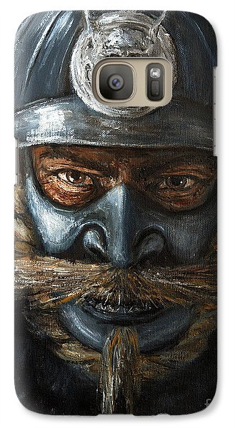 Galaxy Case featuring the painting Samurai by Arturas Slapsys