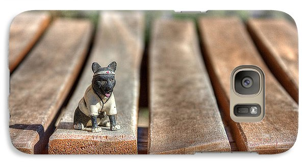 Galaxy Case featuring the photograph Samurai Pooch by Dave Garner