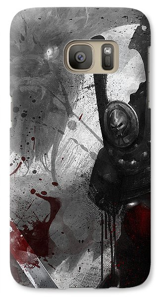 Galaxy Case featuring the digital art Samurai by Steve Goad