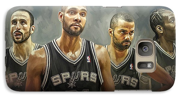 Galaxy Case featuring the painting San Antonio Spurs Artwork by Sheraz A