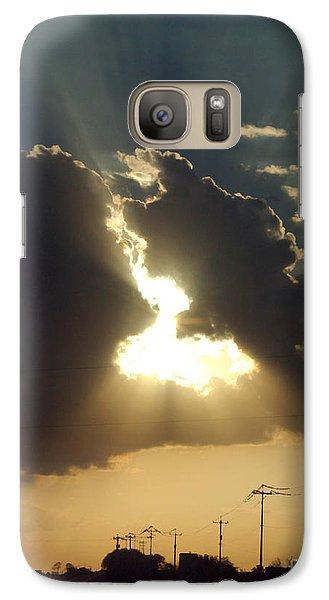 Galaxy Case featuring the photograph San Antonio Sunset by Peter Piatt
