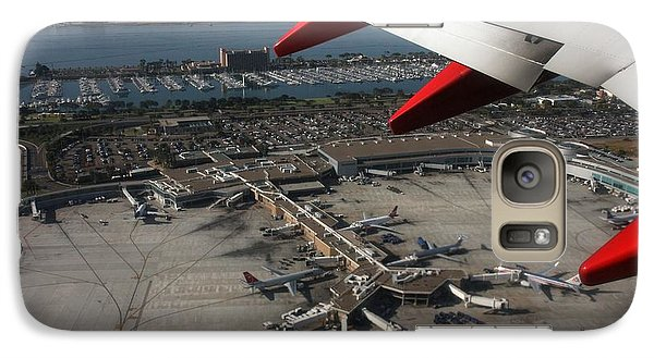 San Diego Airport Plane Wheel Galaxy S7 Case by Nathan Rupert